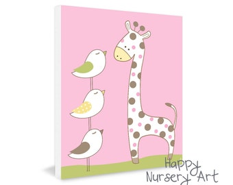 Poster for kids room or nursery,boy wall art for bedroom,giraffe poster for the nursery,art gift for girl birthday,baby girl nursery artwork