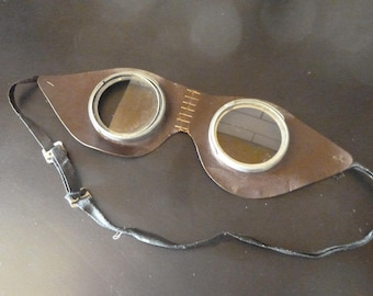 Steampunk Safety Goggles Glasses French Retro Eyewear 1970s Cosplay Costume Accessory