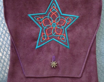 Celtic Star Embroidered Belt Pouch