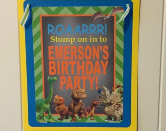THE GOOD DINOSAUR Inspired Happy Birthday or Baby Shower Door or Welcome Sign - Party Packs Available