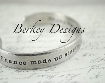 Design Your Own 2 Sided Secret Message Hand Stamped Bracelet- Personalized Bracelet