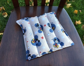 Reusable Rice Heating Pads, Hot or Cold Compress, Mickey Mouse Snuggle Flannel Material, Gift
