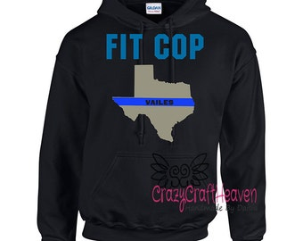 Police Hoodie, fit cop wife, cop wife, Fitcop, fit police officer