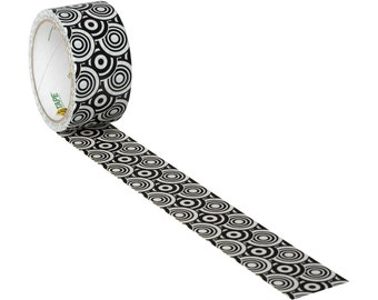Black & White Modern Circles Duct Tape | Duck Brand Tape |