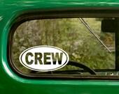 Oval Crew Decal, Crew Sticker, Team Rowing Sticker, Car Decal, Decal, Laptop Sticker, Oval Sticker, Bumper, Vinyl Decal, Car Sticker