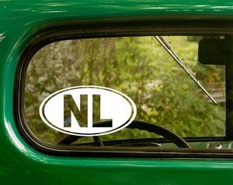 Oval NL Decal, Netherlands Sticker, Netherlands Decal, Car Decal, Decal, Laptop Sticker, Oval Sticker, Bumper, Vinyl Decal, Car Sticker