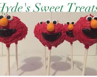 Elmo cake pops