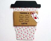 I Love School TEACHER Appreciation Latte Gift Card Holder