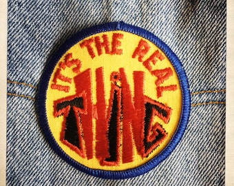 It's The Real Thing – Round Patch Authentic Vintage 60s 70s Denim Hippy Hippie Boho
