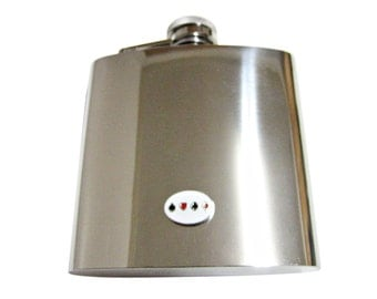 Card Suits 6 oz. Stainless Steel Flask