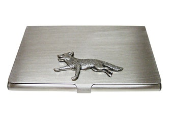 Running Fox Business Card Holder