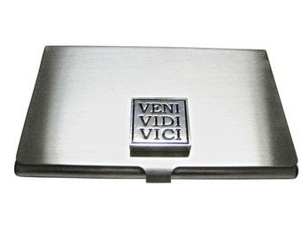 Veni Vidi Vici Business Card Holder