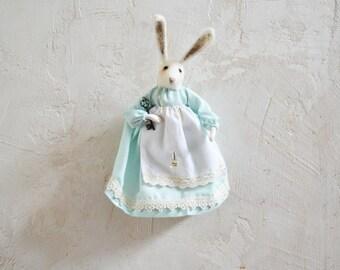 Fairytale Easter Rabbit Art Doll - Rustles from the Meadow by Johana Molina