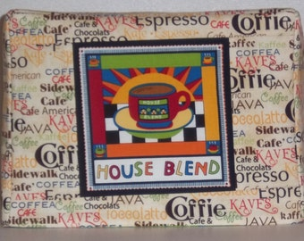 Coffee Theme Toaster Cover, 2 slice Toaster Cover, Toaster Cover with Coffee Cup