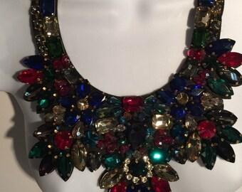 Red carpet opulance necklace