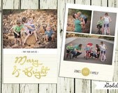 Good as Gold (4) -  2 sided photo Christmas Card