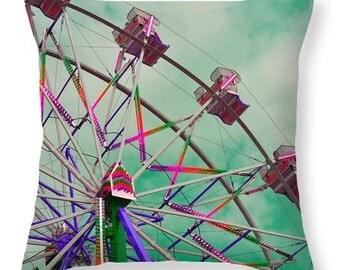 Ferris Wheel in Pastel Pillow Cover