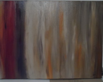 """Deadly Night Shade 18x24"""" Canvas Expressionism Art Acrylic Hand Painted and Signed Original"""