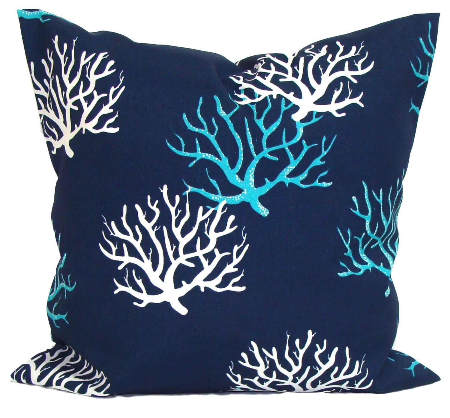 BLUE OUTDOOR PILLOWS Bluel Pillow Cover Blue Decorative