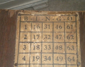 Awesome Antique Wooden BINGO Box, Primitive, Country, Farmhouse, Country Farmhouse, Vintage Decor