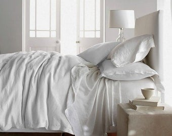 Items Similar To Linen Duvet And Pillowcase Twin Single By