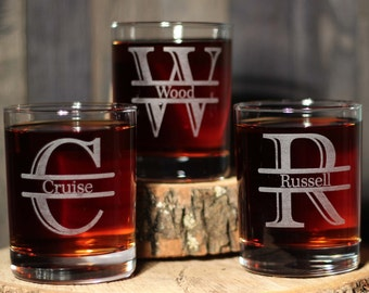 Groomsmen Engraved Scotch Rocks Glasses Gifts Custom Whiskey Glasses Groomsman/Dad/Best Man Gift - ANY QUANTITY