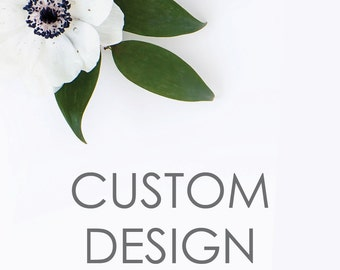 Custom Card Design. Brown Paper Studios