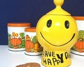 Reserved for Kathy - 1970s Have A Happy Day Cookie Jar - by McCoy Pottery - Pop Culture, Cult Classic Design