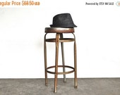 ON SALE Industrial Metal Stool -  Vintage Stool