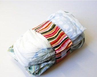 Clearance Wavy Stripe Diaper Strap - Pink Green Sweet Garden Wavy Stripe