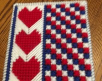 Patriotic Hearts Tissue Box Cover