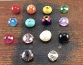 New! Bead Charms to add to your Kyleemae Designs, Birthstone Charms, Child's Birthstone, Pearl Charm, Turquoise Charm, Colored Bead Charm