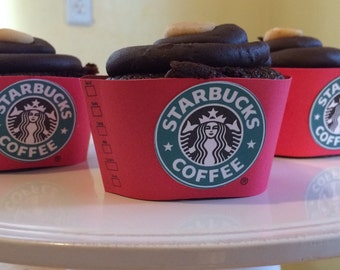 Starbucks Red Cupcake Wrappers