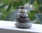 Small Beach Stone Stack 5 Natural Ocean Rocks Zen Stones Zen Garden Sculpture Terrarium Yoga Meditation Gift Home Decor Fairy Garden Balance