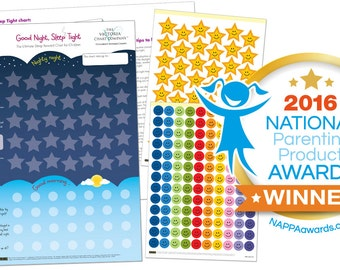 Wholesale Order of 10 Sleep Reward Chart- Good Night, Sleep Tight Reward Chart  - Award Winning Sleep Chart for Children from 2yrs: