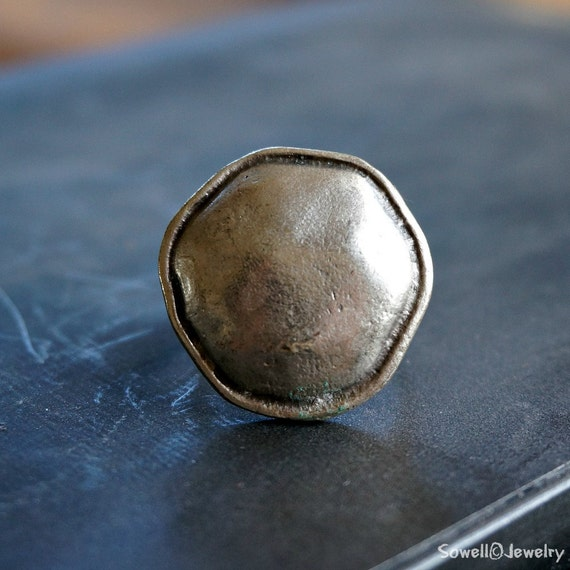 seher silver plated ring unique handmade ring by sowelljewelry