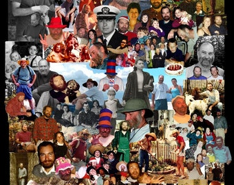 Unique Father's Day Gift~ Custom PHOTO COLLAGE for DAD~Unique Wedding Gift~For Someone Who Has Everything~Remembering a Loved One