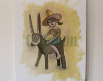 The Donkey' Original Oil Painting