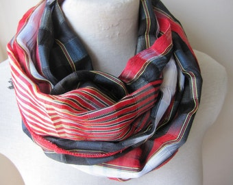 Turkish scarf Man fashion-mad-mens scarves-Turkey-2016 trends-outdoor FASHION- orange black red scarf-silk linen fabric-Black sea Karadeniz