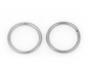 100pcs 12mm Stainless Steel Jump Ring - 16 Gauge, Jewelry Finding, Jewelry Making Supplies, Chainmaille, Crafting, Ships from USA - JR145