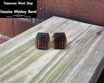 Little Whiskey Barrel Wood Cuff Links Handmade