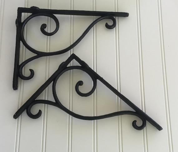 shelf bracket decorative iron bracket black bracket iron. Black Bedroom Furniture Sets. Home Design Ideas