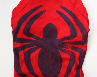 Upcycled Dog T-Shirt - Spiderman