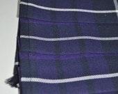 Baby Kilt in Warrior tartan, 12-18m, Poly viscose, machine washable. Handmade in Scotland.