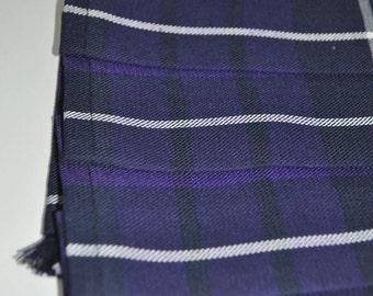 Baby Kilt, 12-18m in Warrior tartan, Poly viscose, machine washable. Handmade in Scotland.
