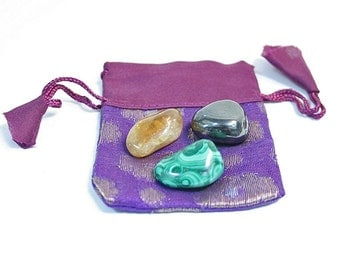 Money Attraction Stones Wealth Prosperity Crystal Set