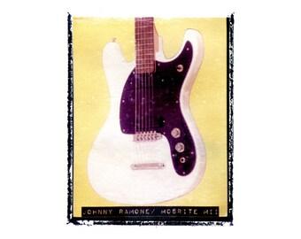 Johnny Ramone the Ramones guitar art print / music gift / rock n roll art / music room decor / guitar gift / man cave art