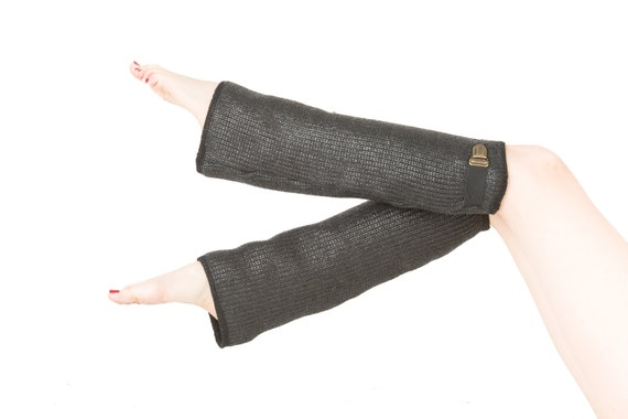Coated wool leg warmers