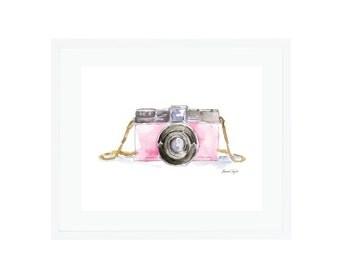 Pink Diana Camera Giclee Print