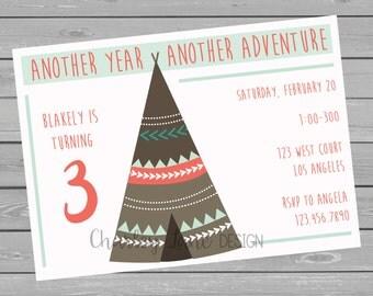 Adventure Birthday - Girl Invitation
